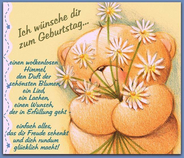 Поздравление с днем рождения на немецком открытки